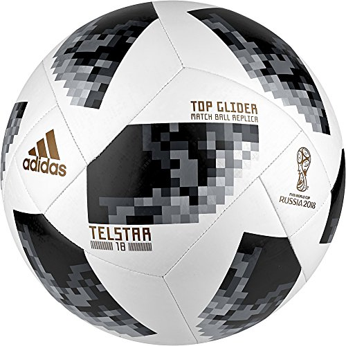 Adidas World Cup 2018 Top Glider Soccer Ball 5 White/Black