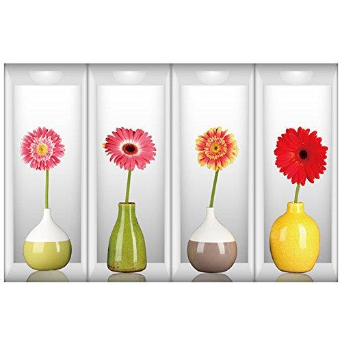 mk. park - 3D Vase Removable Flower Tree Art Vinyl wall sticker Home Decor Decals Hot