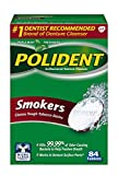 Polident Smokers Denture Cleanser, 84 Count
