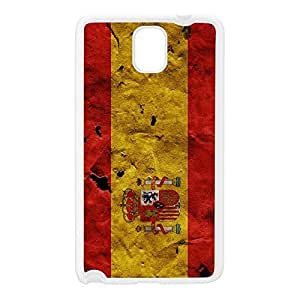 Grunge Paper Flag of Spain - Spanish Flag - Bandera de Espana - la Rojigualda White Silicon Rubber Case for Galaxy Note 3 by UltraFlags + FREE Crystal Clear Screen Protector
