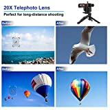 Cell Phone Camera Lens, AIKEGlobal 20X Zoom Telephoto Lens, Stronger Phone Tripod, Wireless Remote Shutter,Phone Holder Compatible iPhone, Samsung, and Most Smartphones