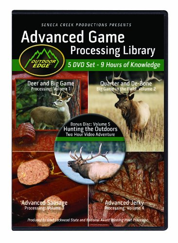(Outdoor Edge AP-101 Advanced Game Processing DVD Library Volumes 1-4 with Nine Hours of Home Processing Knowledge Plus 2-Hour Bonus Hunting)