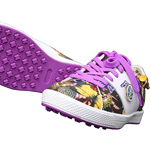 KARAKARA Spike-less Golf Shoes, KR-403, Purple, 250 mm, for Women by KARAKARA GOLF