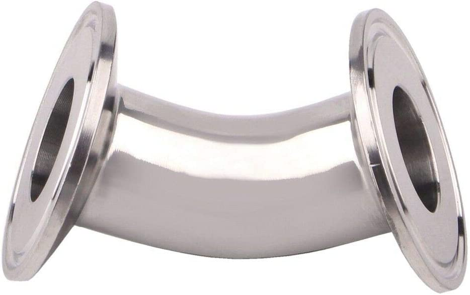 25MM OD 1 Tri Clamp SS304 Sanitary 45 Degree Elbow Pipe Fitting for Homebrew