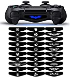 30 Pieces Different LED Light Bar Decal Stickers Film for PS4 Playstation 4 Controller Mix Stickers (A Style)