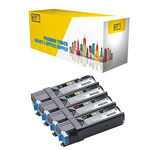 New York Toner New Compatible 4 Pack High Yield Toner for Dell 2130 BK C M Y 330-1436 330-1437 330-1438 330-1433 - 2135 . -- Black Cyan Yellow Magenta
