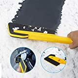 RUIX Snow Brush Ice Scraper for Car, Multifunctional Snow Removal Shovel Car Glass Scraping Brush Defroster Car Winter Shoveling Snow Tool Supplies