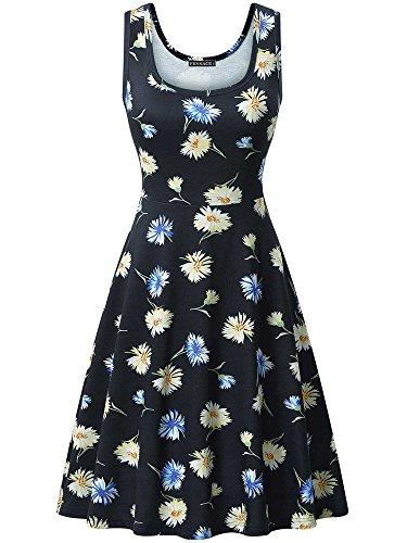 Summer Floral FENSACE A Women's Dress Line 6 Sleeveless 18034 ZIqCXqw