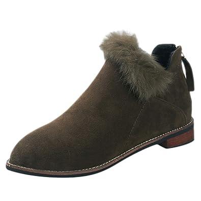 moins cher nouveau design super populaire Femme Ankle Boots Talon Vintage, Bottes Neige Femme ...