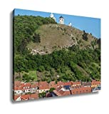 Ashley Canvas, Holy Hill With Saint Sebastian Chapel In Mikulov Town In Czech Republic, Home Decoration Office, Ready to Hang, 20x25, AG6006442