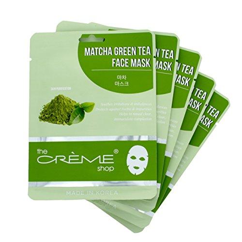 The Crème Shop Matcha Green Tea Face Mask - 5 Piece - Creme Tea Green