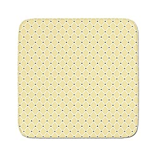 Cozy Seat Protector Pads Cushion Area Rug,Ivory,Rectangular Shaped Image Connected with Polka Dots and Bold Lines Artwork,Beige Black and White,Easy to Use on Any Surface (B07D7CSMNJ) | Amazon price tracker / tracking, Amazon price history charts, Amazon price watches, Amazon price drop alerts