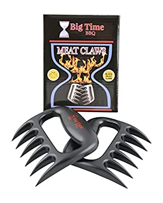 Big Time BBQ Meat Claws Pulled Pork Shredder Tool Made Tough For Shredding Handling and Carving Set of 2 Perfect For Transferring Your Turkey From The Roasting Pan To The Carving Plate