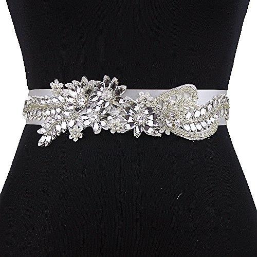 Women's Belt Sash Purple Diamonds Wedding ULAPAN Pearls Belt Sash S182 Dress Bridal dHqwzA