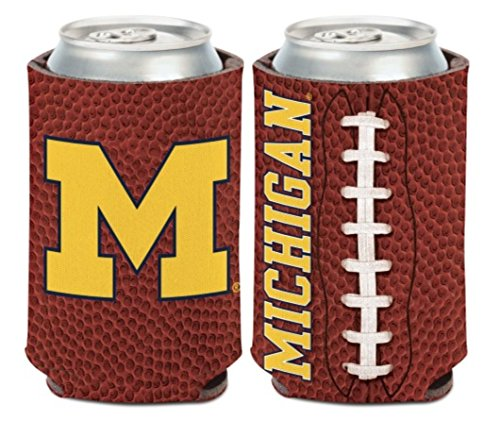 WinCraft NCAA Michigan Wolverines 1 Pack 12 oz. 2-Sided Can Cooler