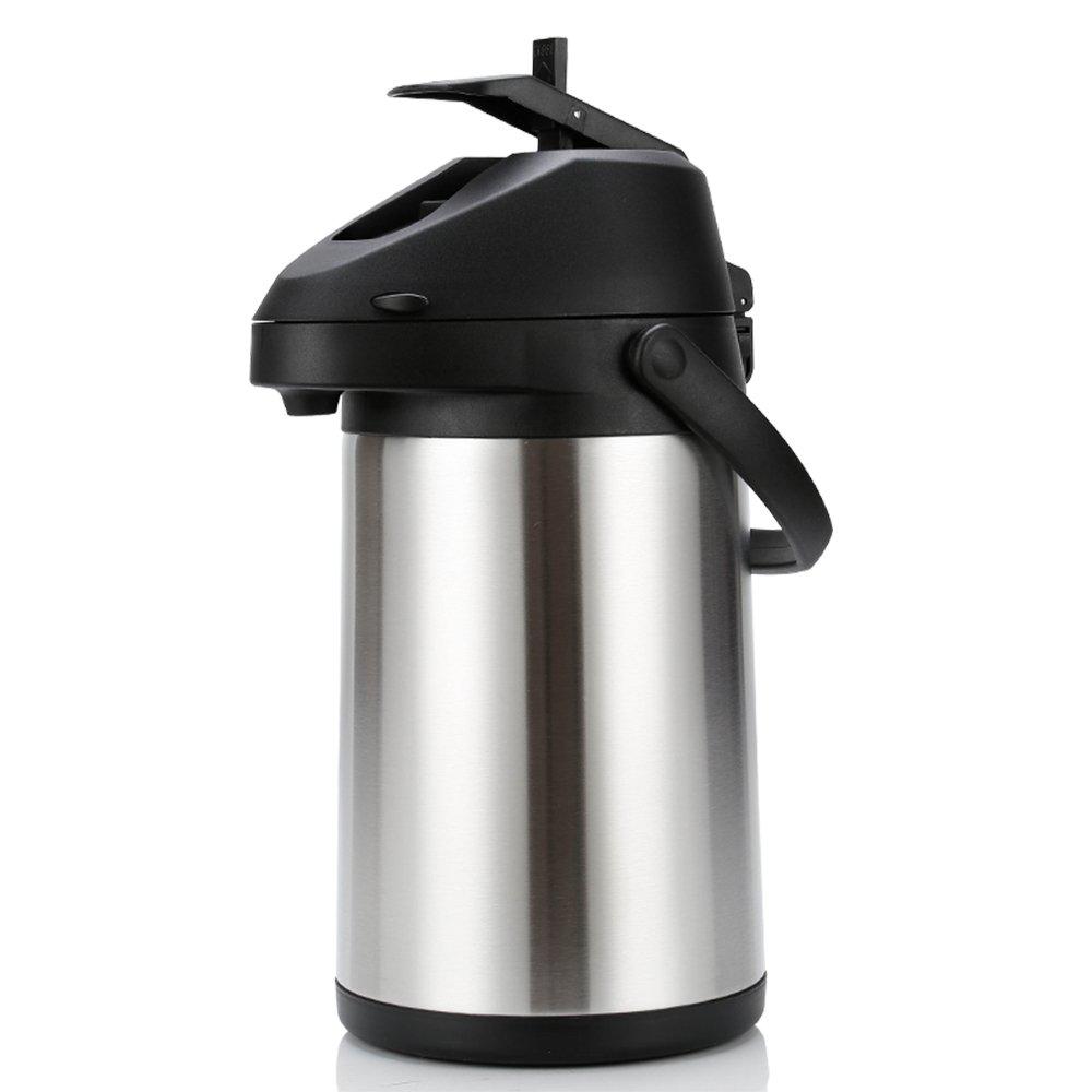 5l空気圧魔法瓶家庭用ウォームポット大容量ステンレス鋼プッシュ型ケトルアウトドアスポーツキャンプ旅行ピクニックポットウォーターカップ (容量 : 5L) B07Q6QP83J  5L