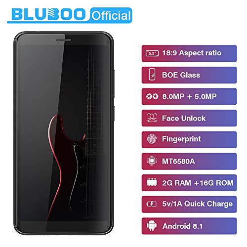 Price comparison product image Liu Nian 5.5''Ultrathin Cell Phone Dual Camera Android 8.1 2GB RAM 16GB Quad Core Smartphone Dual Sim 3G Unlocked Face ID Mobile Phone Smartphone (Blue)