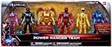 power rangers toys action figures - Bandai Collectible Power Rangers Team 6-Piece Set With Exclusive Metallic Goldar