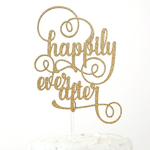 NANASUKO Wedding Cake Topper - happily ever after - Premium quality Made in USA