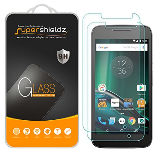 [2-Pack] Supershieldz for Motorola Moto G Play / Moto G4 Play / Moto G Play (4th Gen) Tempered Glass Screen Protector, Anti-Scratch, Anti-Fingerprint, Bubble Free, Lifetime Replacement Warranty