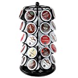 Lily's Home K Cup Holder Carousel for 35 K-Cups in Black. K Cup Storage in Style