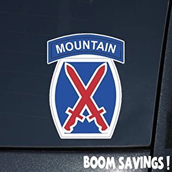 U.S Sticker Army 10th Mountain Division Decal