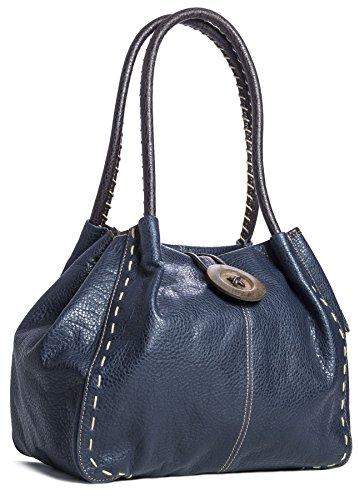 Big Handbag Shop - Bolso al hombro de sintético para mujer One Navy (NL215)