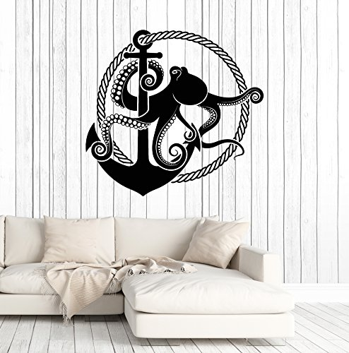 Cheap  Vinyl Wall Decal Anchor Octopus Rope Nautical Style Marine Art Stickers Mural..