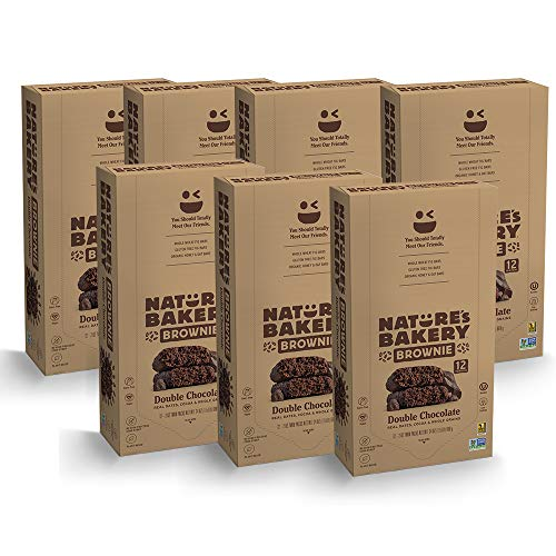 Nature's Bakery Whole Wheat Fig Bars, Double Chocolate Brownie (84 Bars), Packaging May Vary, Non GMO, Vegan Snacks