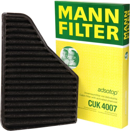 Mann-Filter CUK 4007 Cabin Filter With Activated Charcoal for select  Mercedes-Benz models