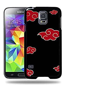 Case88 Designs Naruto Akatsuki Emblem Protective Snap-on Hard Back Case Cover for Samsung Galaxy S5