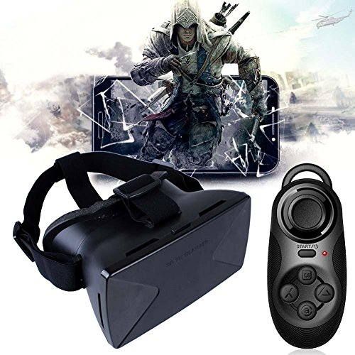 Sun YOBA Virtual Reality 3D Glasses Google Cardboard + Bluetooth Controller Gamepad
