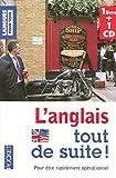 l anglais tout de suite 1cd audio french edition