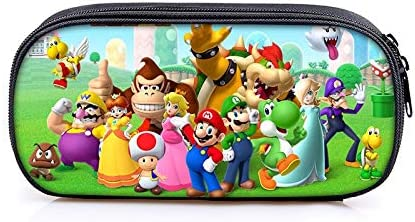 Bolsa Mario Bros Boys Girls Cartoon Pencil Case Bag Bolsas Escolares Niños Student Pen Bag Kids Monedero Monedero: Amazon.es: Oficina y papelería