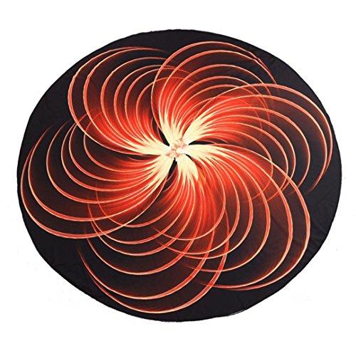 YUJIN 3D Print Pattern Yoga Mat Beach Pool Home Table Cloth Yoga Mat Beach Towel Toalha Microfibra Orange