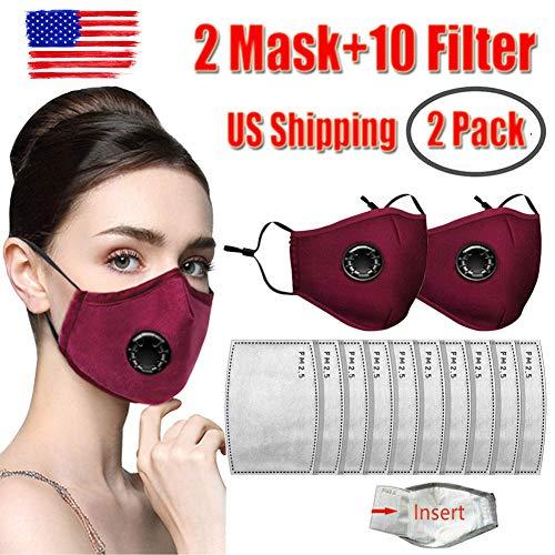 Carbon filter face masks