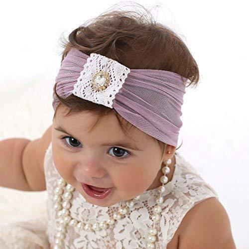Amazon.com  Soft Purple Baby Girl Headband 5fb3702ab10