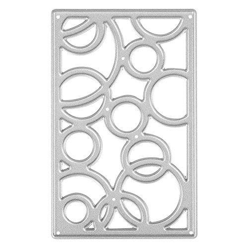 Circle Pattern Cutting Dies Stencil, DIY Scrapbooking Cutting Template Circle Frame, Carbon Steel Decorating Cutting Board Stencil for Handicrafts Scrapbook Embossing Paper Card