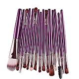 Susenstone 15 pcs/Sets Eye Shadow Foundation Eyebrow Lip Brush Makeup Brushes Tool (Purple)