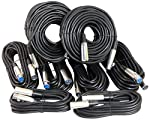 Your Cable Store XLR / Mic Cable Kit Two 50 ft, Two 15 ft and Four 25 Foot XLR Patch Cables by Your Cable Store Inc.
