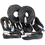 Your Cable Store XLR/Mic Cable Kit Two 50 ft, Two 15 ft and Four 25 Foot XLR Patch Cables