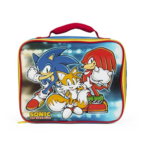 Sega Sonic Blue and Yellow Insulated Lunch Kit with Top Handle Carry