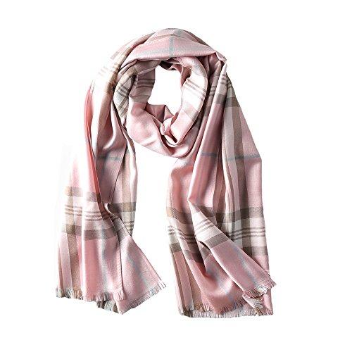 S&S Women's Silk Grid Warm Lattice Long Scarf, Autumn Winter Plaid Blanket Shawl Wrap 27