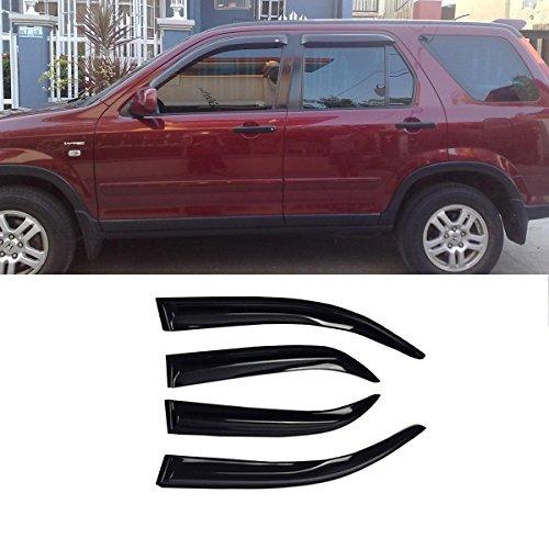 VioGi Fit: 02-06 Honda CR-V 4pcs Front + Rear Smoke Sun/Rain Guard Vent Shade Window Visors (2004 Honda Crv Sun Visor compare prices)