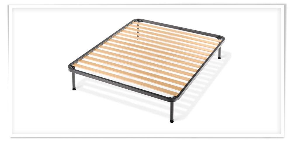 Easy colchón de plaza y media de espuma viscoelástica, 120 x 200 cm x 22 cm de altura, ortopédico + red ortopédica de hierro con tirantes de haya: ...