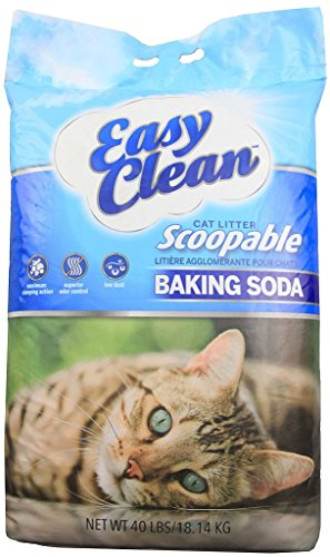 - Pestell Pet Products Easy Clean Scoopable Litter with Baking Soda, 40-Pound Bag