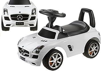 Mercedes Benz Antideslizante Auto para Bebés, Color Blanco: Amazon.es: Juguetes y juegos