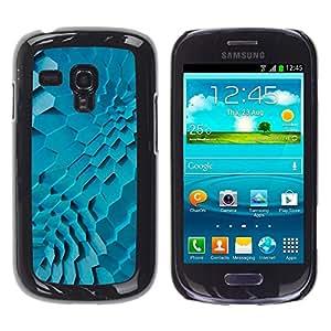 For Samsung Galaxy S3 MINI 8190 - Blue Green Geometric Pattern /Modelo de la piel protectora de la cubierta del caso/ - Super Marley Shop -