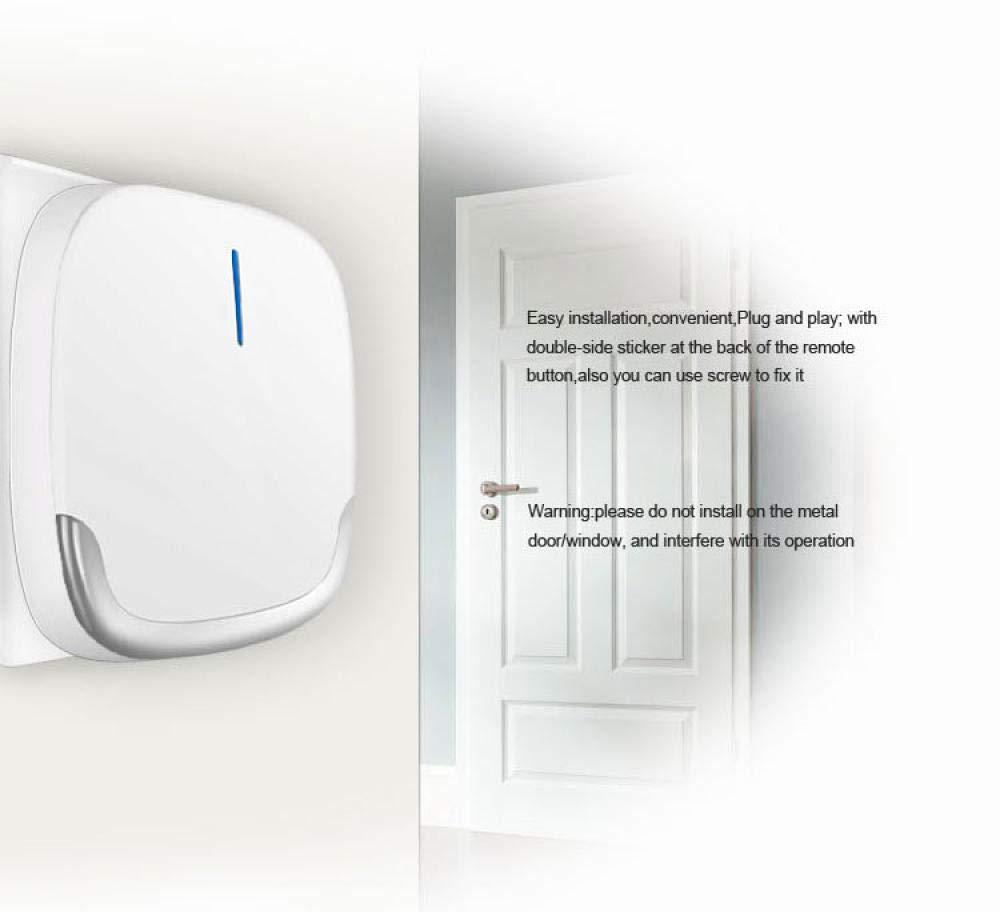 Bianco 58 Melodia Ringdoors Kit Campanello Wireless Impermeabile @ 2 Trasmettitori 1 Ricevitore 4 Volumi Regolabili Campo Di Lavoro 300M