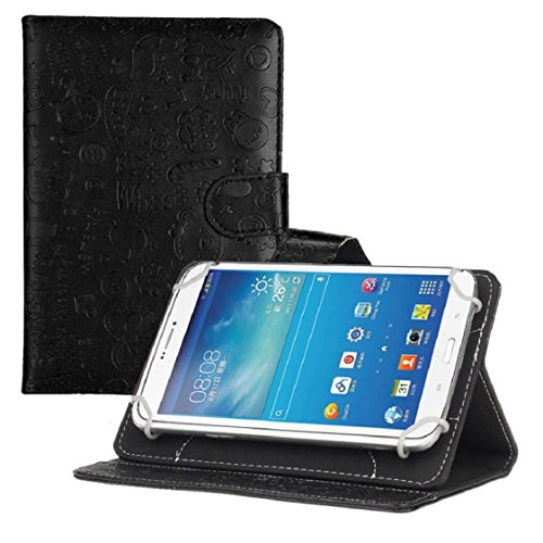 Price comparison product image Mchoice For 7 inch Android Tablet New Universal Leather Flip Stand Case Cover (Black)